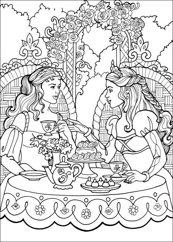 prinsesse tegninger for børn